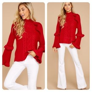 New BB DAKOTA Everything For Fall Red Sweater